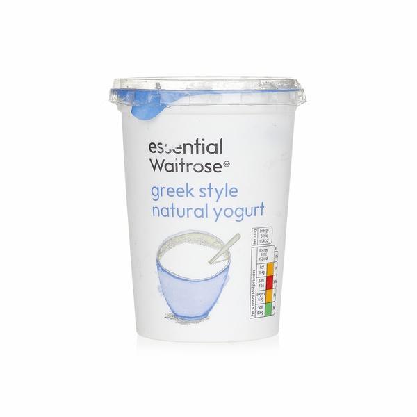 Essential Waitrose natural Greek yogurt 500g