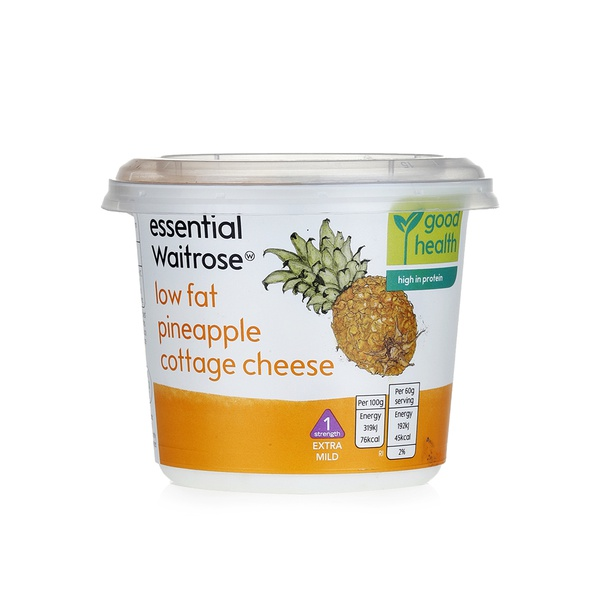 Essential Waitrose low fat pineapple cottage cheese 300g