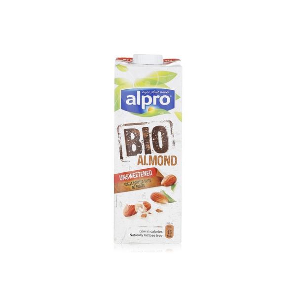 Alpro bio almond milk unsweetened 1ltr