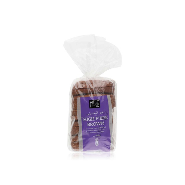 Fine Food high fibre brown bread 400g