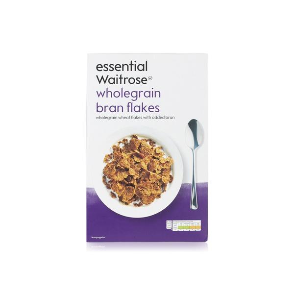 Essential Waitrose wholegrain bran flakes 750g