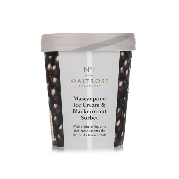No.1 mascarpone ice cream with blackcurrant sorbet 500ml