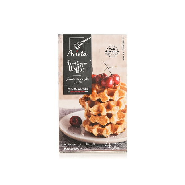 Avieta pearl sugar waffles x4 55g