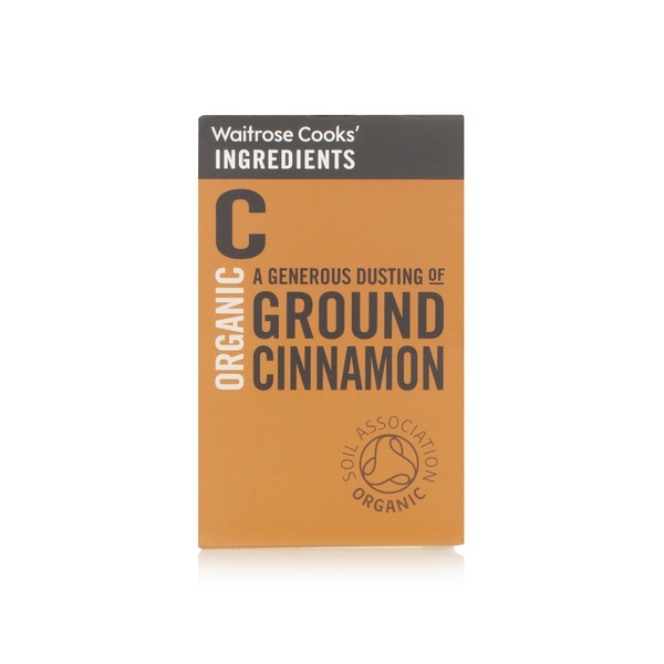 Waitrose Cooks' Ingredients organic ground cinnamon 33g