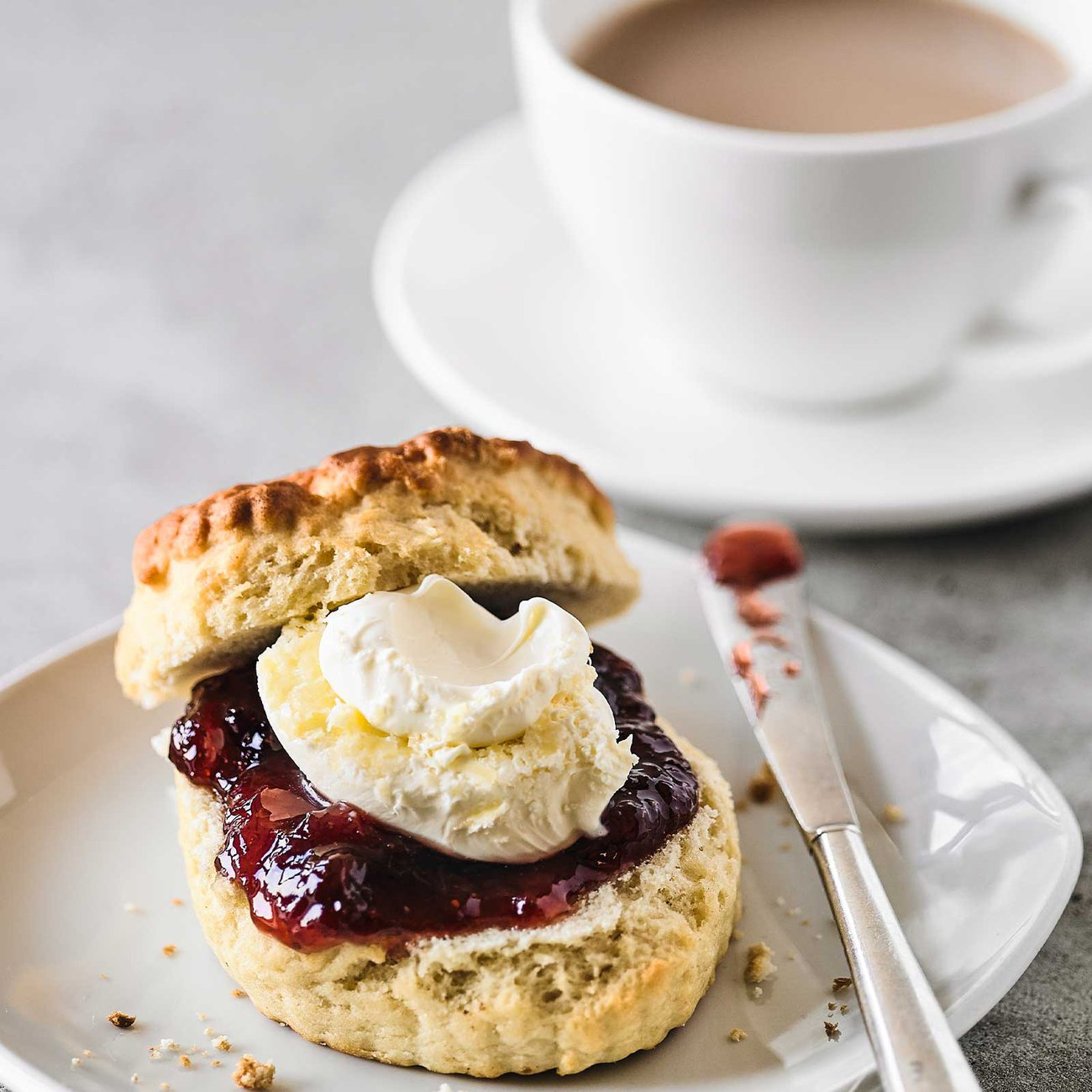 Scones with jam and cream are the most famous part of afternoon tea