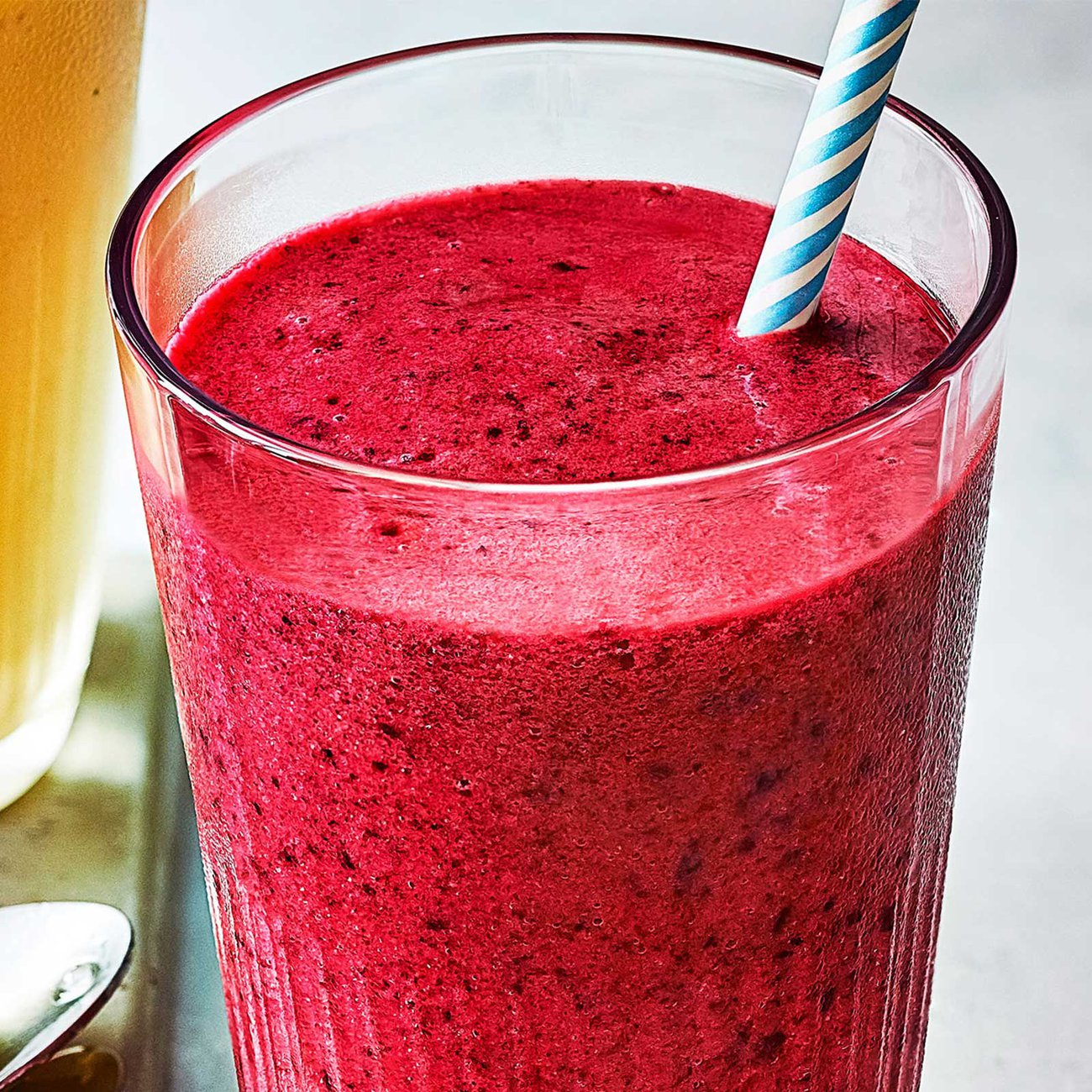 Make a smoothie with kefir to boost your probiotic intake