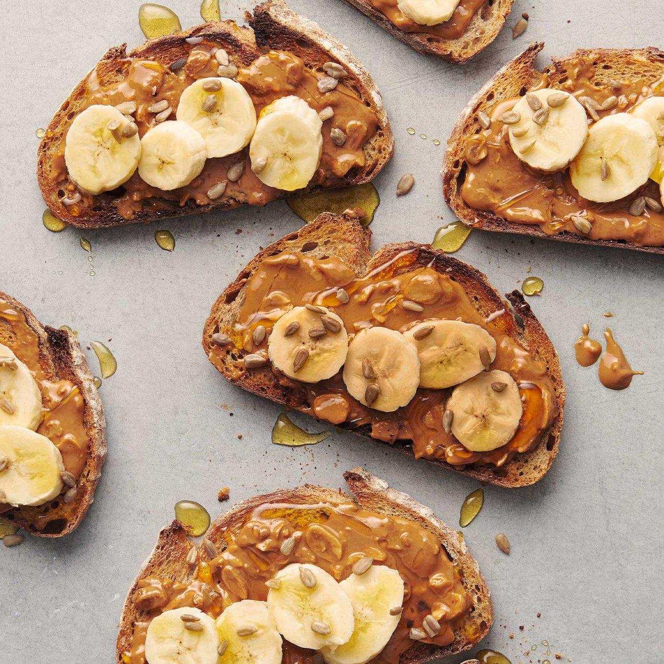 Almond Butter & Banana on Toast