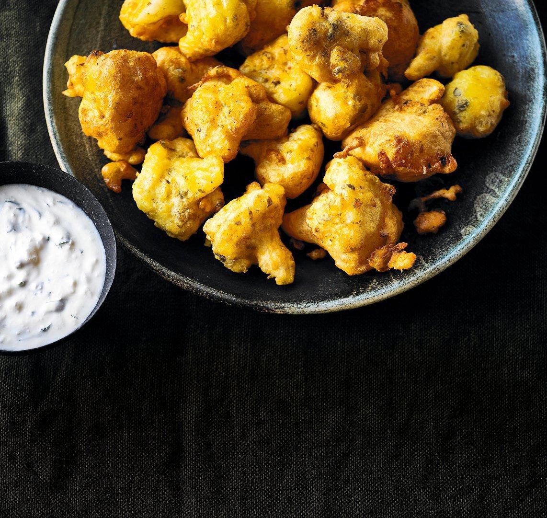 Cauliflower & caper fritters