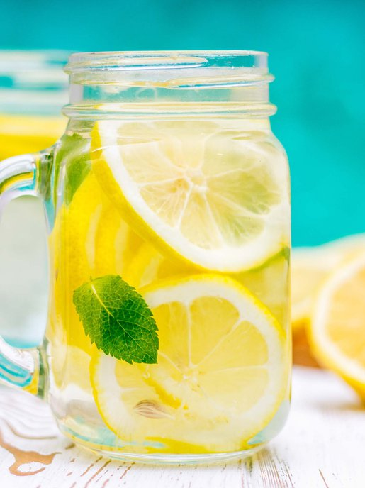 Hydrate yourself with lemon water